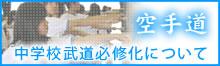 空手の中学校武道必修化について