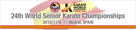 24th World Senior Karate Championships (2018/11/6-11 Madrid, Spain)