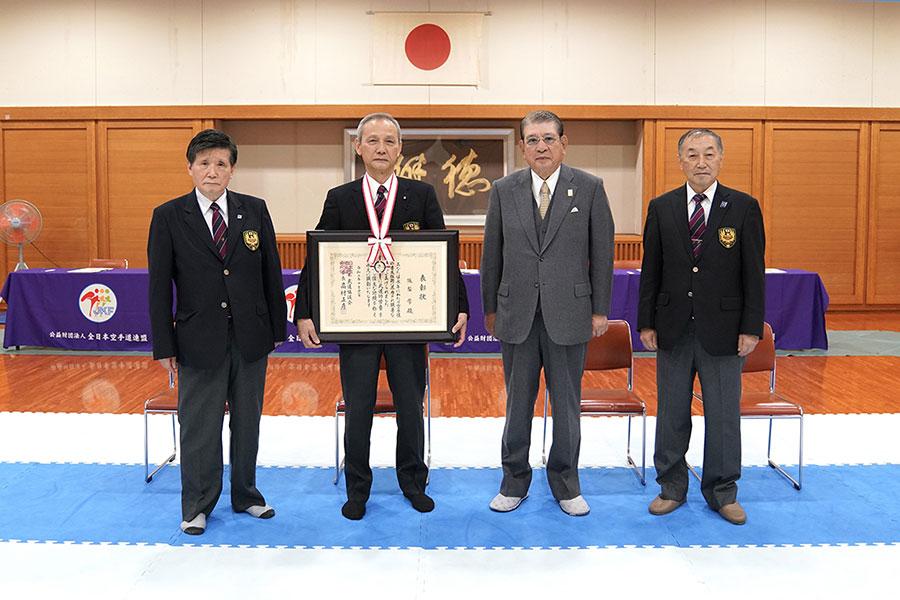 全日本空手道連盟常任理事・阪梨學氏 令和元年度武道功労者表彰受章